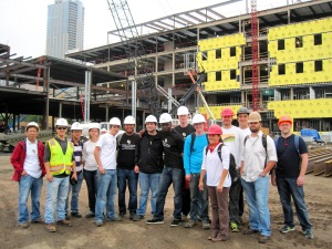 CE students tour new Academic 1 Building